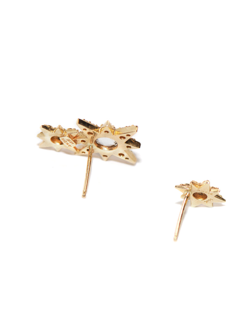 Aztec Double Starburst Mini Studs
