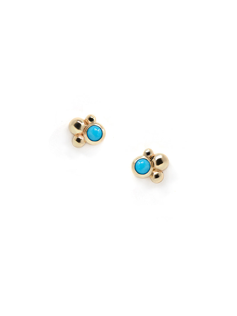 Micro Bubbling Brook Dew Drop Studs