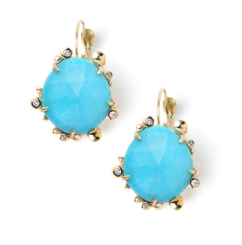 Dew Drop Marine Slice Earrings