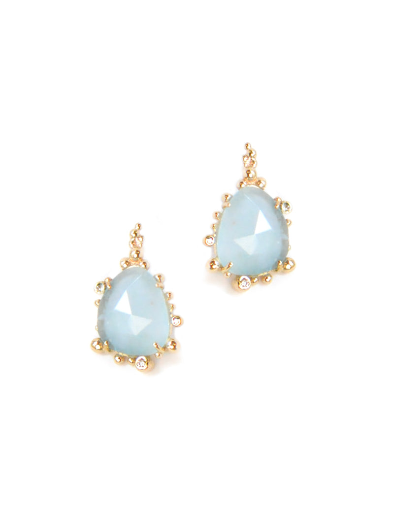 Dew Drop Marine Mini Slice Earrings