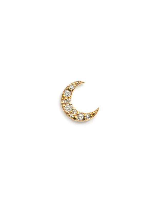 Aztec Large Moon Crescent Stud