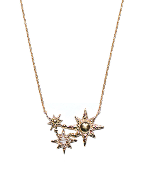 Aztec Starburst Cluster Necklace