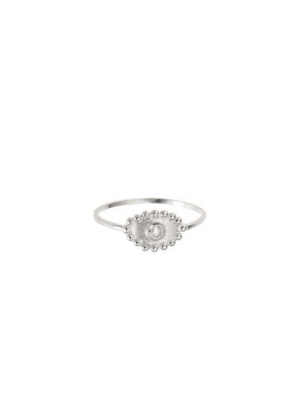 Dew Drop Evil Eye Ring