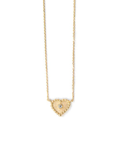 Dew Drop Heart Necklace
