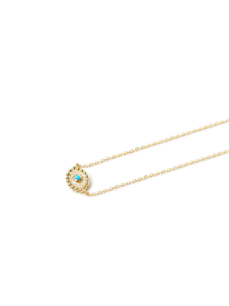 Dew Drop Evil Eye Necklace