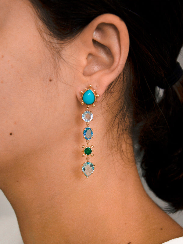 Dew Drop Marine Earrings