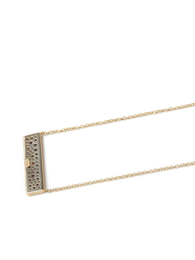 Cléo Geometric Pavé Plate Necklace