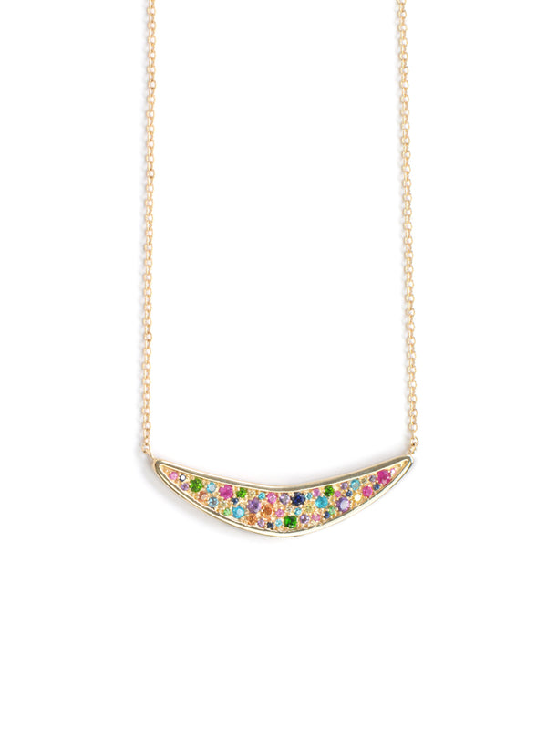 Plated Cléo Geometric Boomerang Necklace