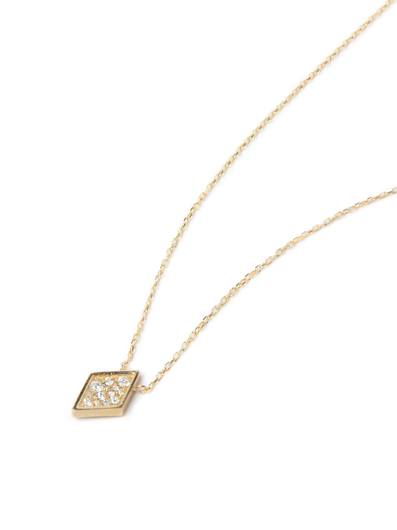 Cléo Geometric Diamond Shaped Necklace