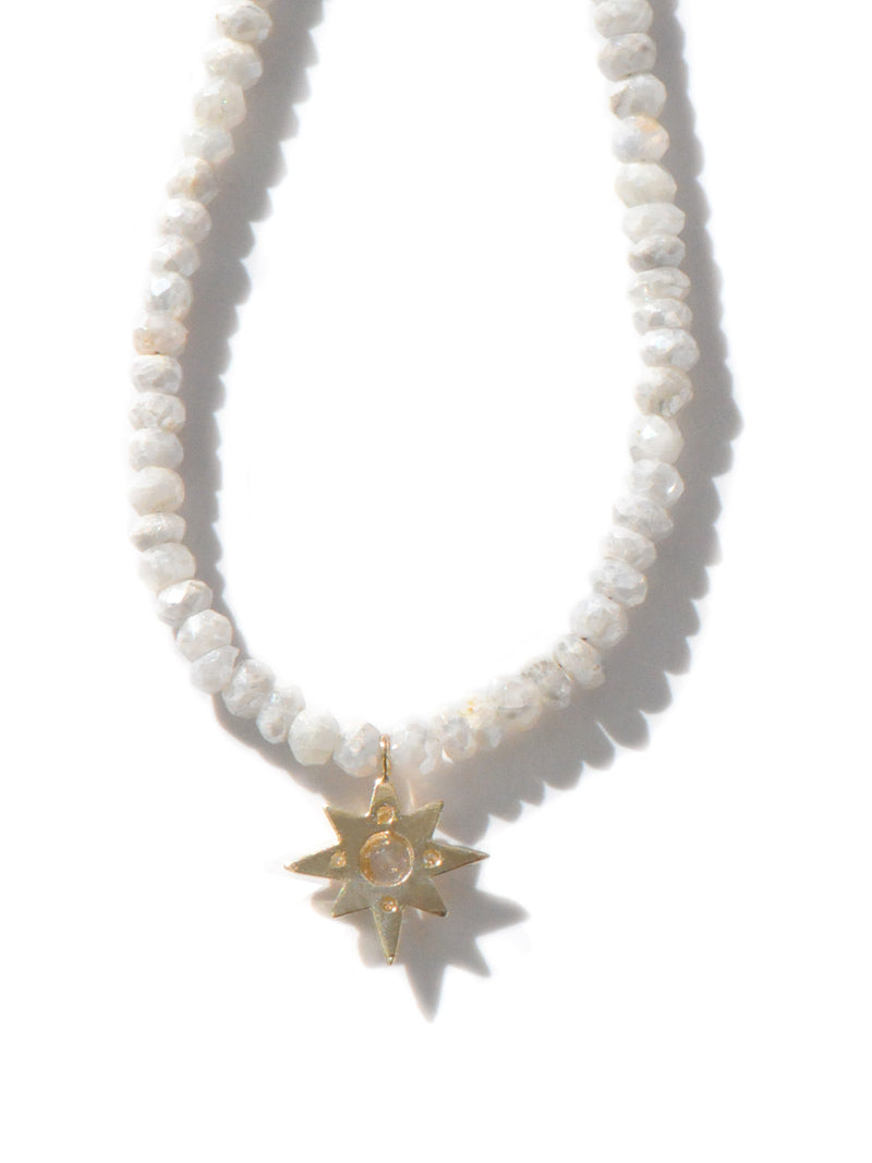 Aztec micro Starburst Rondelle Necklace
