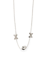 Love Letter X O X Single Diamond Crew Necklace