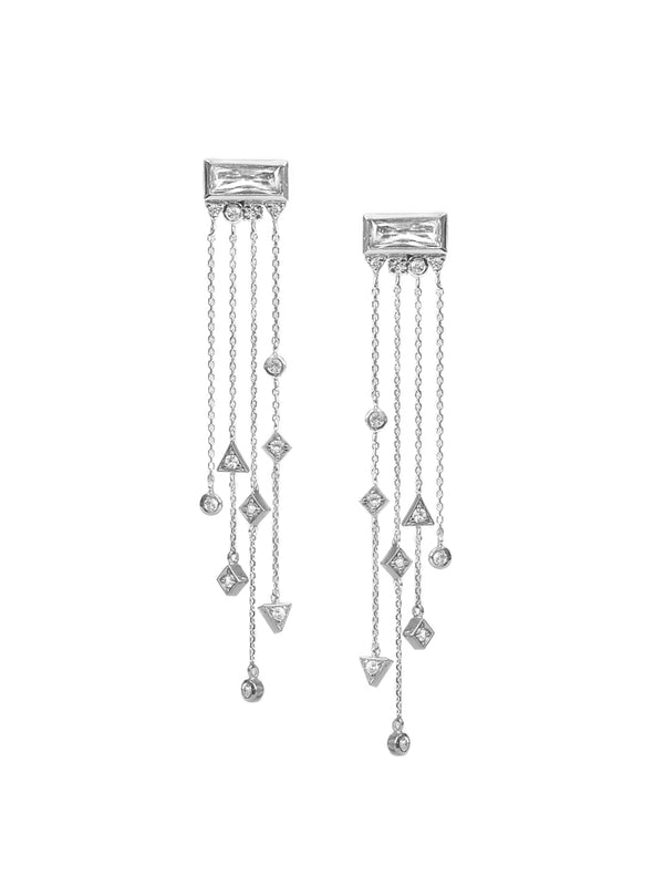 Cleo Baguette Chain Earrings