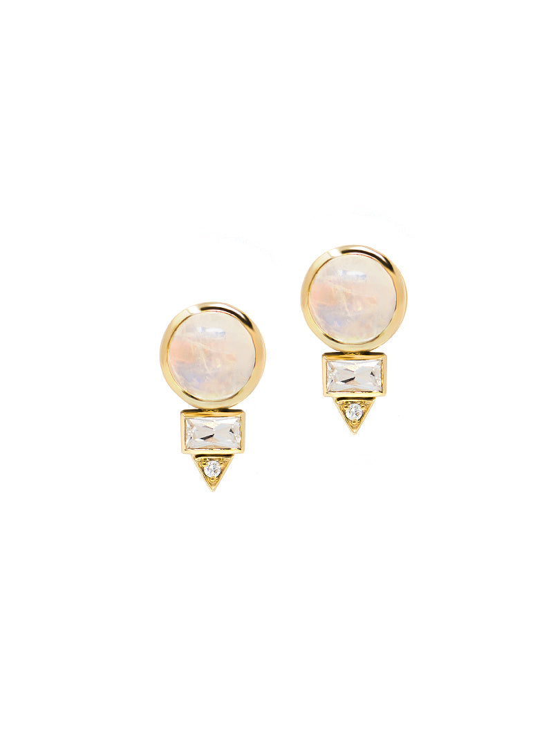 Mini Cléo Spear Baguette Studs