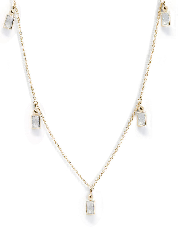 Cléo Floating Baguette Crew Necklace