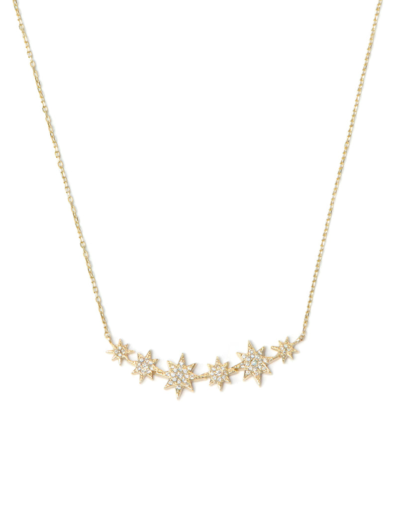 Aztec North Star Bar Necklace