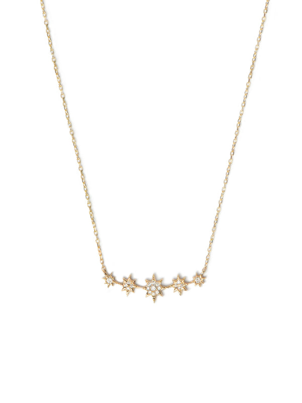Aztec North Star Mini Bar Necklace
