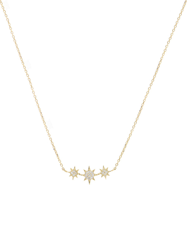 Aztec North Star Micro Bar Necklace