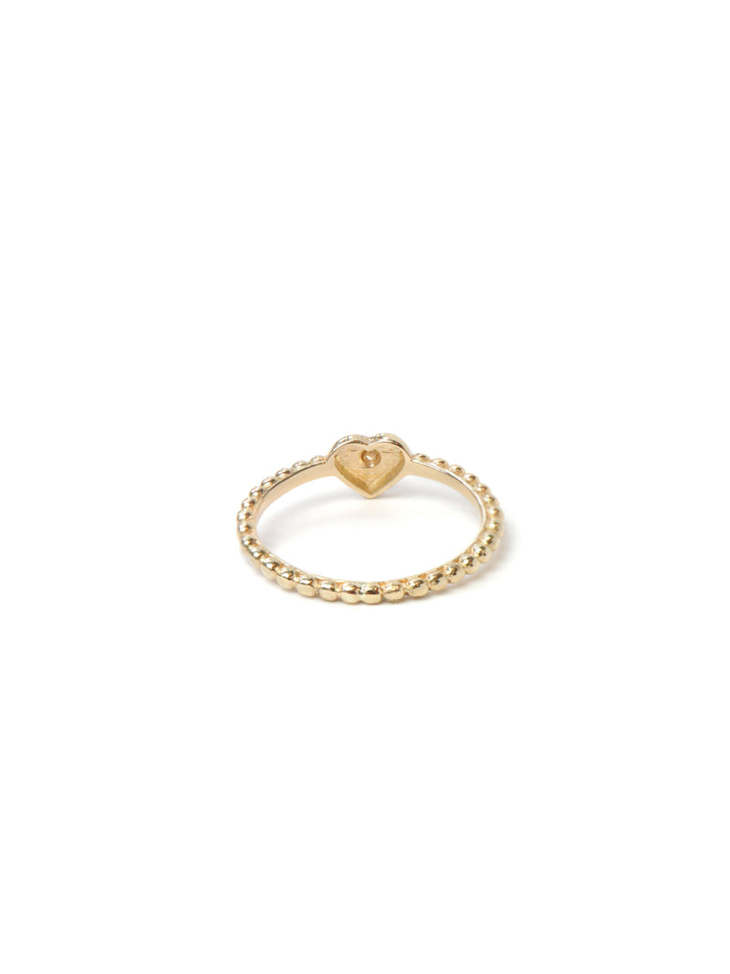 Dew Drop Heart Stackable Ring