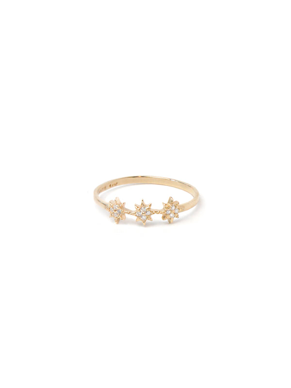 Aztec North Star Trio Ring