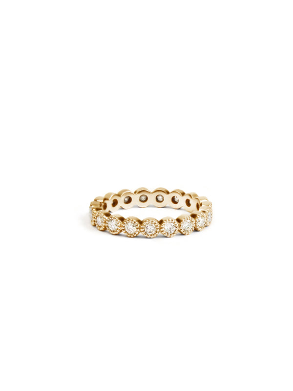 Cléo Milgrain Round Eternity Ring