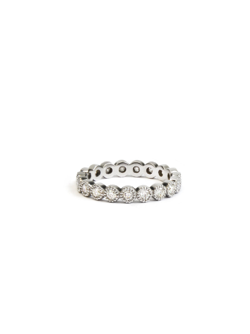 Cleo Milgrain Round Eternity Ring