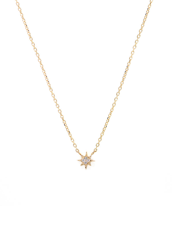 Micro Aztec North Star Necklace