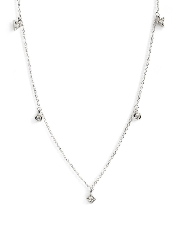 Cléo Floating Geometric Crew Necklace