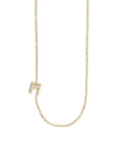 Love Letter Customizable Pave Necklace A to Z