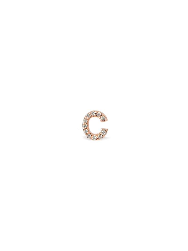 Love Letter Pavé Stud A to Z
