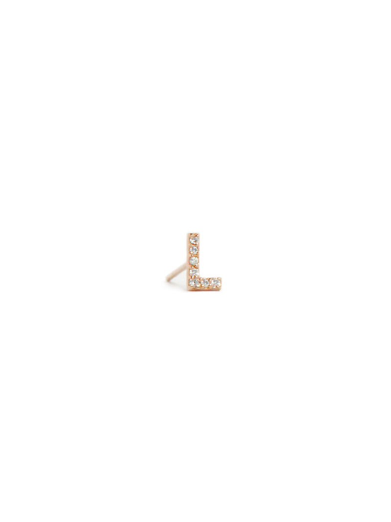 Love Letter Pave Stud A to Z