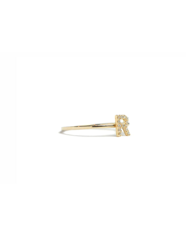 Love Letter Pave Ring A to Z