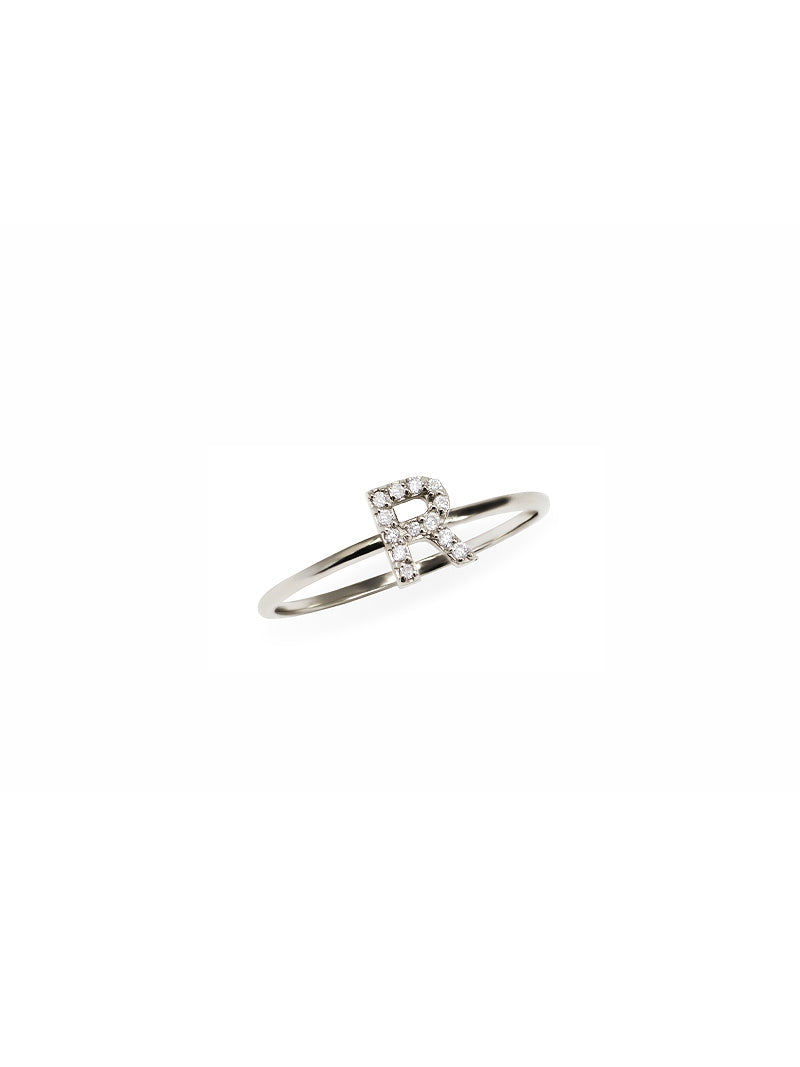 Love Letter Pavé Ring A to Z