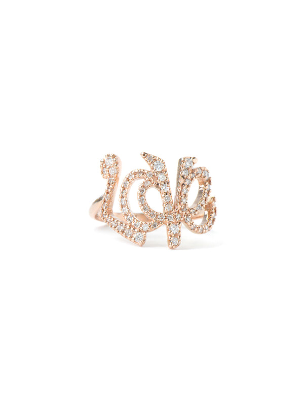 Love Letter Pavé LOVE Ring