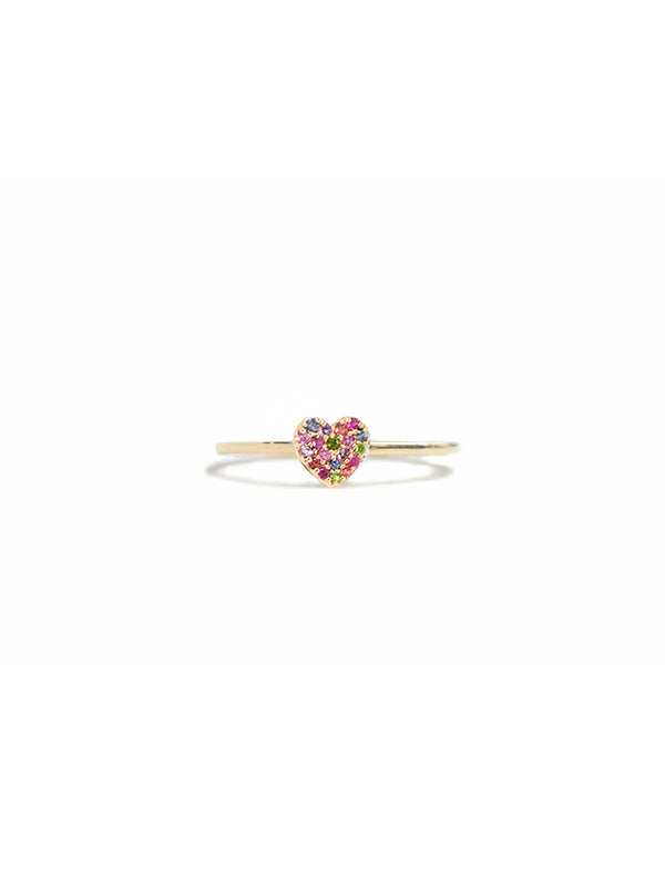 Love Letters Pavé Heart Ring