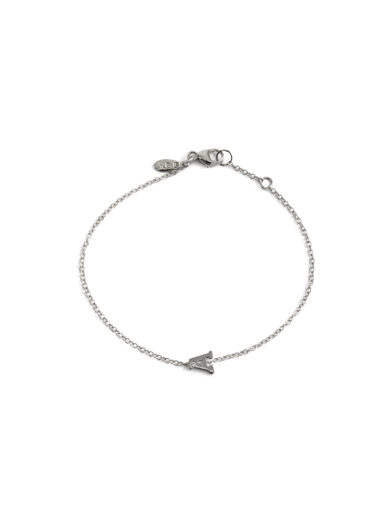 Love Letter Customizable Single Diamond Bracelet