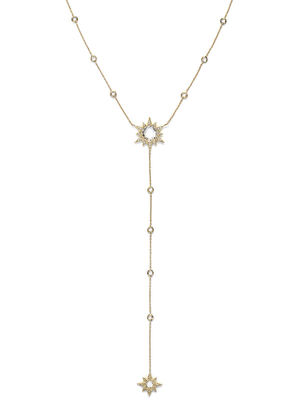 Aztec Starburst Y-Necklace