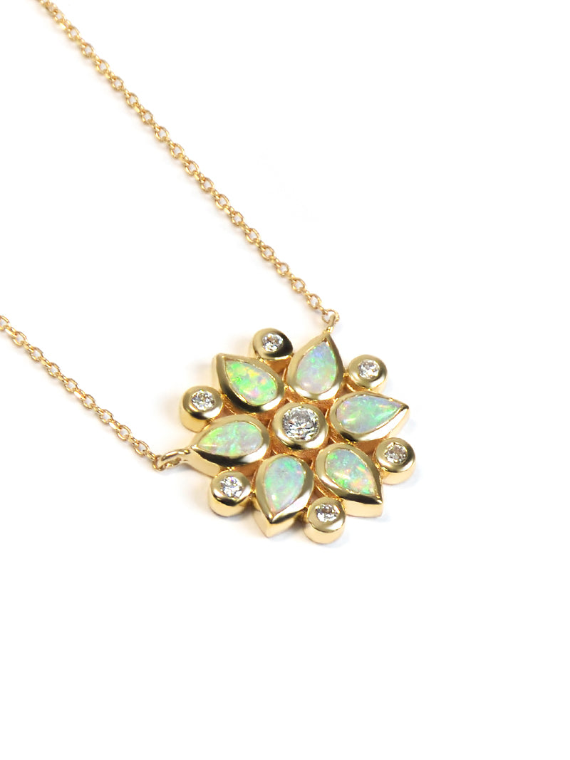 Bezel Bouquet Petal Necklace