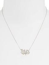 Love Letter Pavé Script Necklace