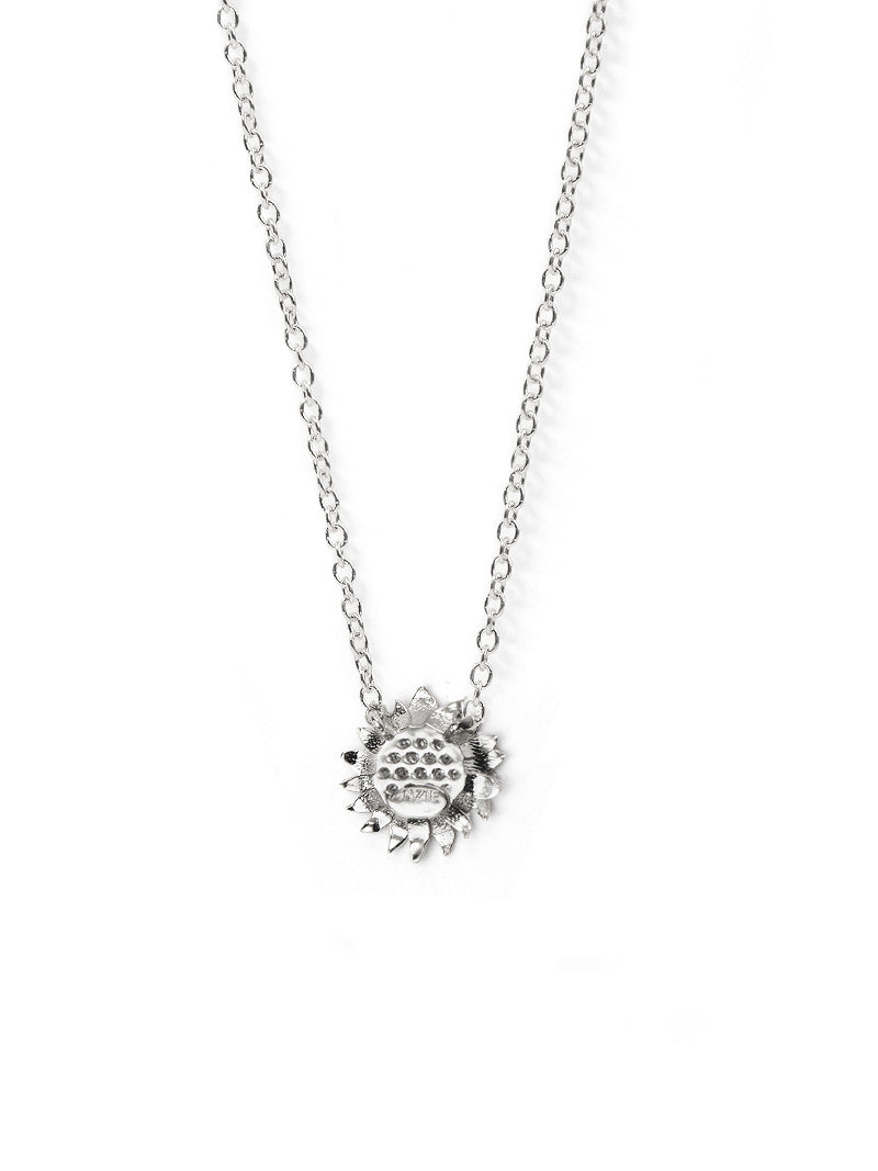 Mini Hope Sunflower Pavé Necklace