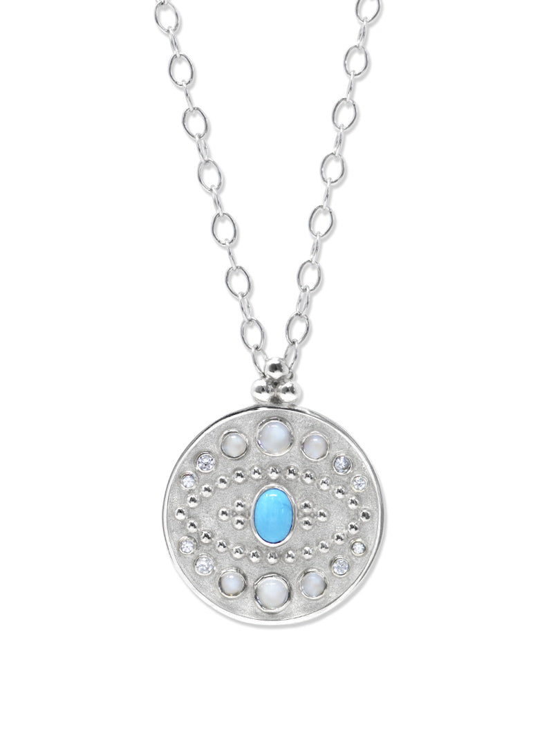 Aztec Large Moon Crescent Necklace