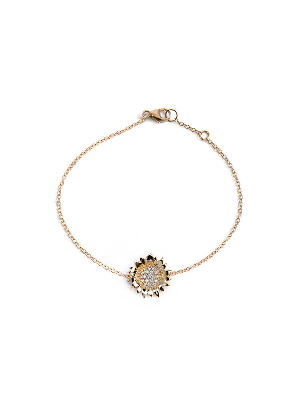 Pavé Hope Sunflower Bracelet