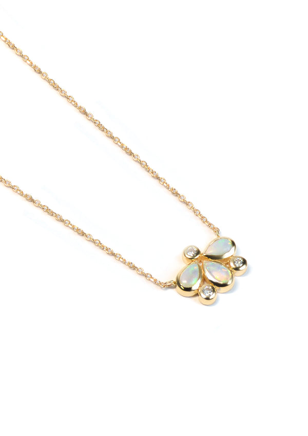 Bezel Bouquet Firefly Necklace