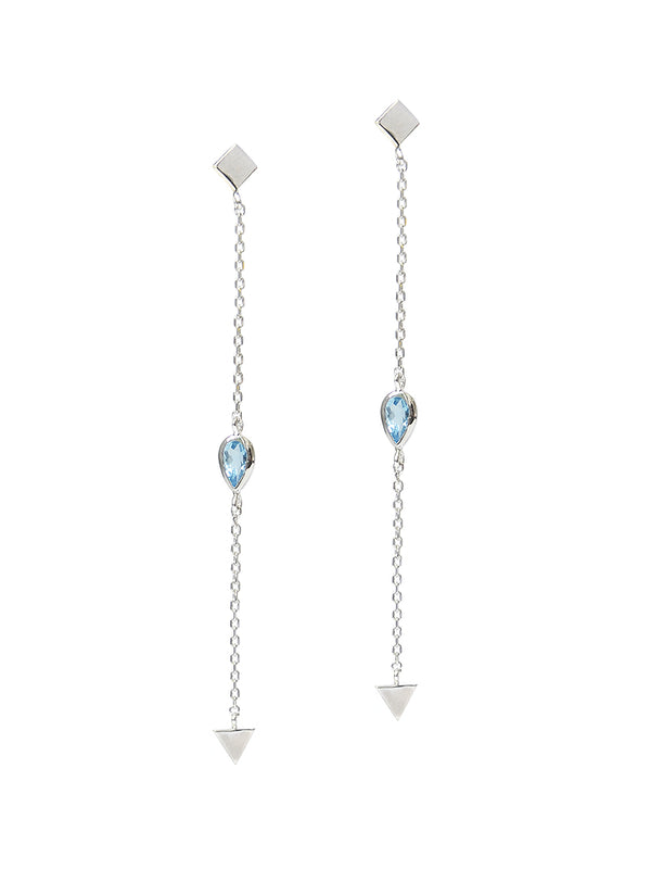 Cléo Solid Station Chain Earrings