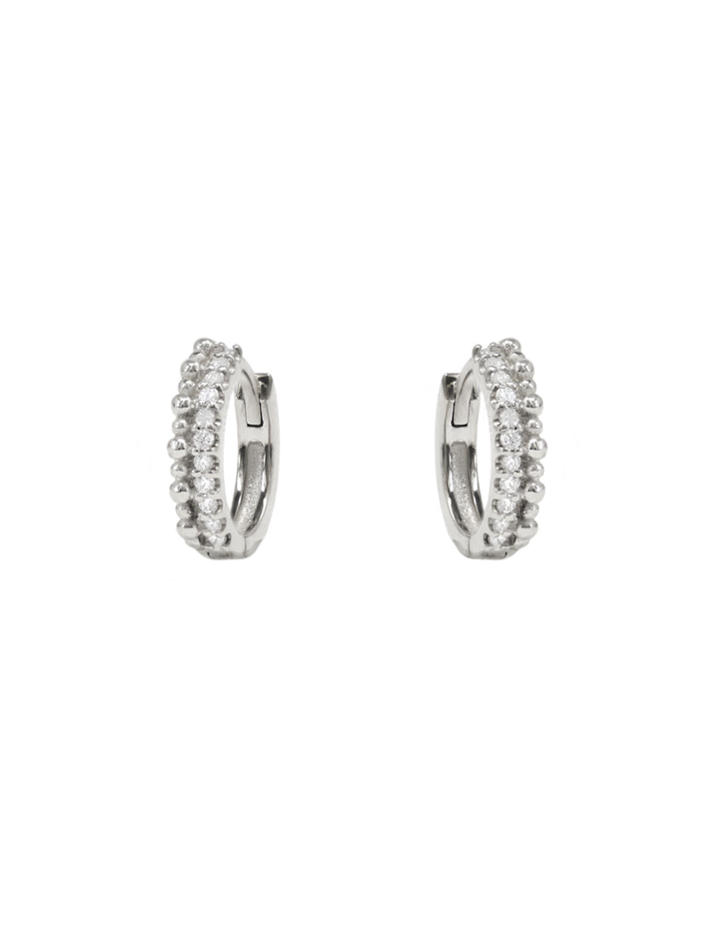 Dew Drop Pavé Double Huggies