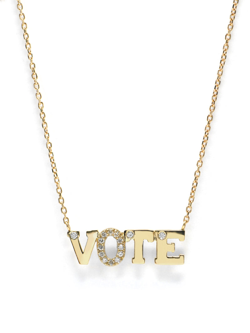 Love Letter VOTE Necklace
