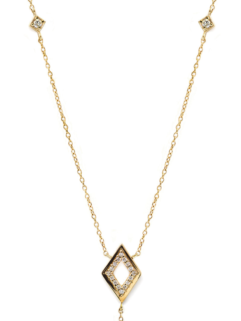 Cléo Hollow Rhombus Y-Necklace
