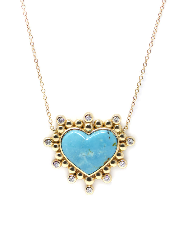 Dew Drop Heart Pendant