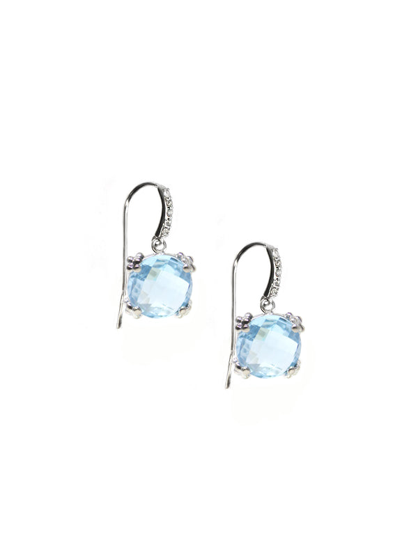 Dew Drop Pavé Cluster Earrings