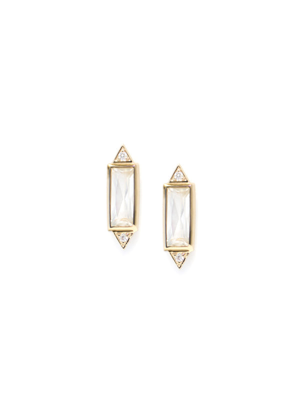 Cléo Baguette Stud Earrings