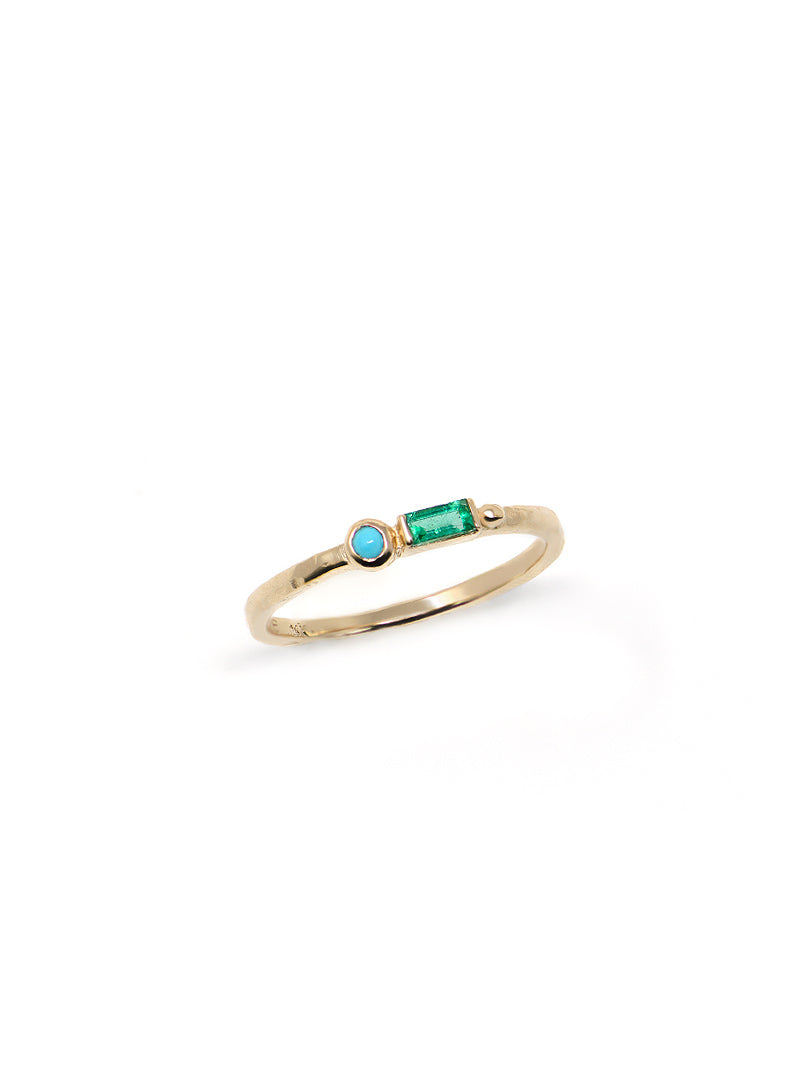 Cleo Baguette Stackable Ring